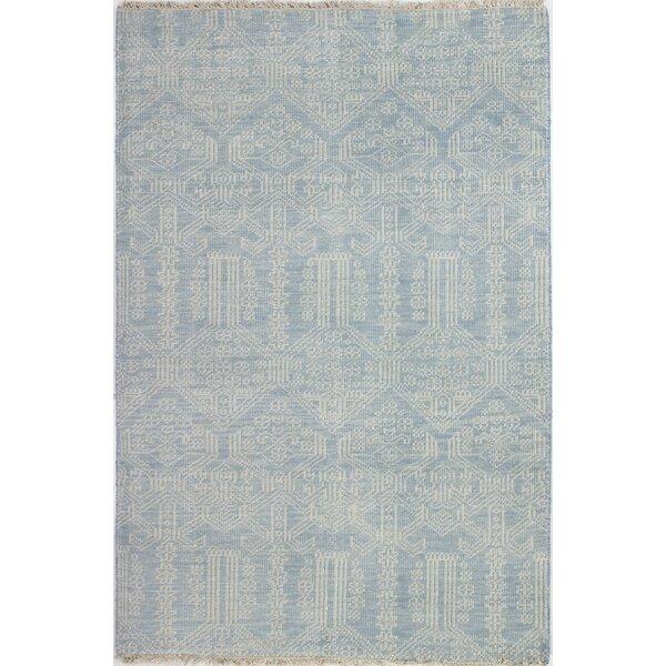 Kurtis Hand-Knotted Light Blue Area Rug by Mistana