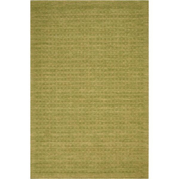 Dove Hand-Woven Wool Green Area Rug by Highland Dunes