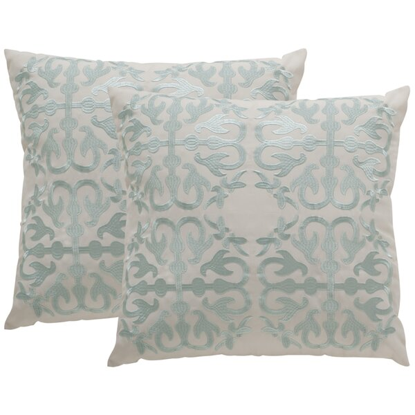 Lindenwood Moroccan Outdoor Throw Pillow (Set of 2) by Rosecliff Heights