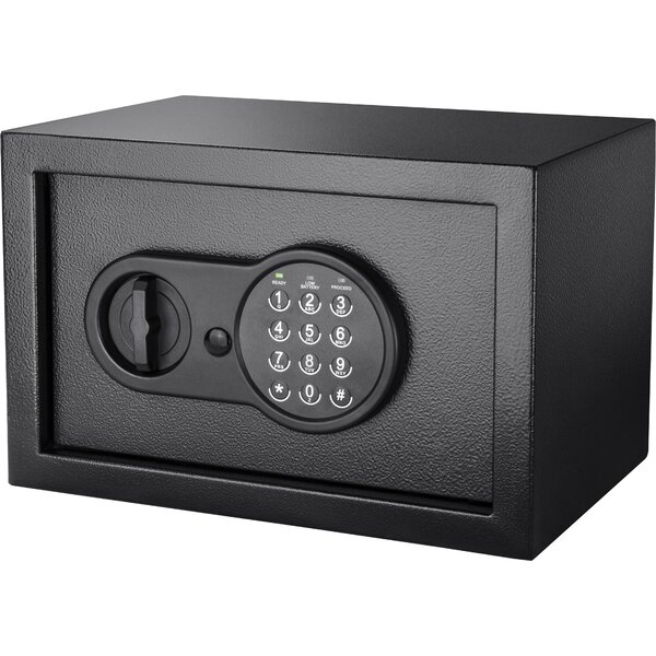 Compact Security Safe with Electronic and Key Lock by Barska