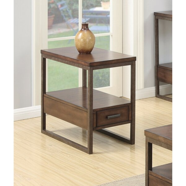 Pecor Elegant Wooden End Table by Union Rustic
