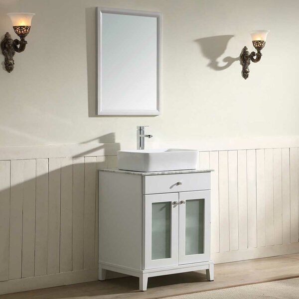 Julie 24 Single Bathroom Vanity Set with Mirror by Dawn USA