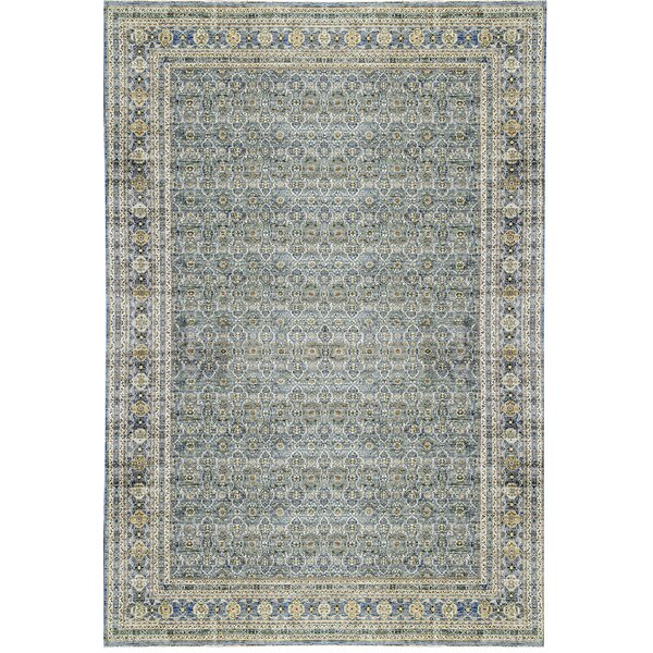 One-of-a-Kind Nooristan Hand-Knotted Blue 14'9 x 22'6 Wool Area Rug
