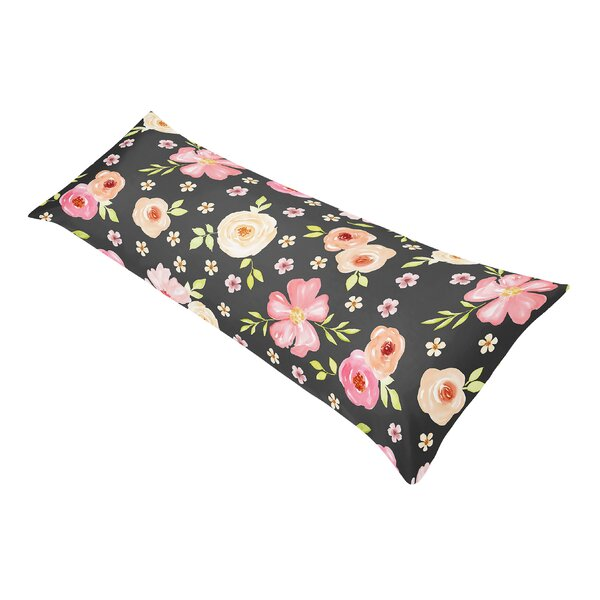 Watercolor Floral Body Pillow Case by Sweet Jojo Designs