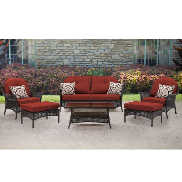 Kinnison 6 Piece Sofa Set with Cushions by Bayou Breeze Bayou Breeze