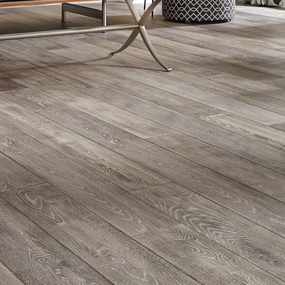 Antigua 7 Engineered Oak Hardwood Flooring in Silver by Mannington