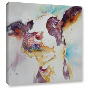 Cow 22 Painting Print on Wrapped Canvas by Latitude Run