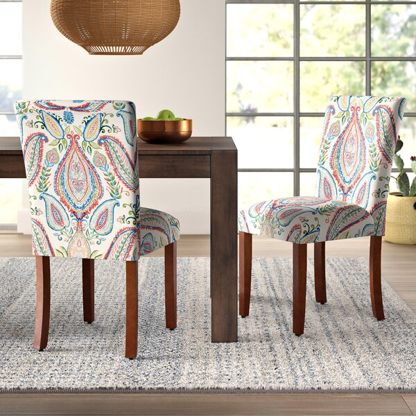 Affordable Price Giana Paisley Upholstered Dining Chair (Set of 2) by Mistana
