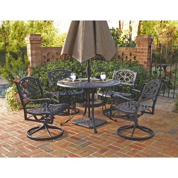Van Glider 5 Piece Outdoor Dining Set by Astoria Grand