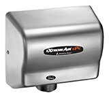 Adjustable High Speed 100 - 240 Volt Hand Dryer in Stainless Steel by American Dryer