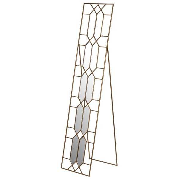 Rectangle Metal Cheval Wall Mirror by Mercer41