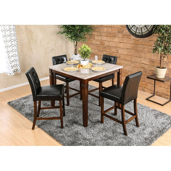 Webber 5 Piece Counter Height Dining Set by Fleur De Lis Living