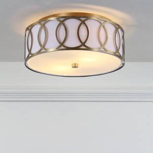 Online Reviews Herrington Metal 2-Light Flush Mount By Mercer41