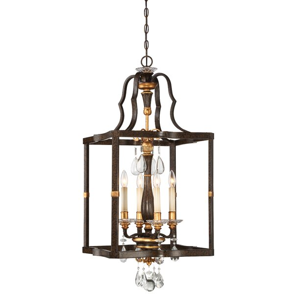 Chateau Nobles 4 - Light Lantern Square Chandelier by Metropolitan by Minka Metropolitan by Minka