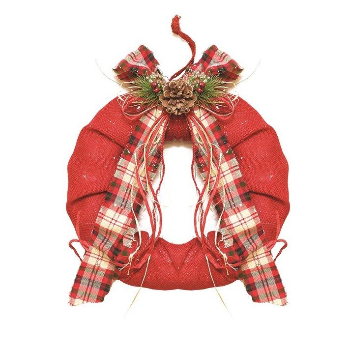 northlight 13 burlap christmas wreath wayfair - Burlap Christmas Wreath