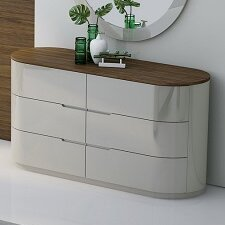 Lisa 6 Drawer Double Dresser with Mirror by Orren Ellis
