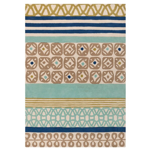 Foggy Blue/Kelp Brown Area Rug by Scion