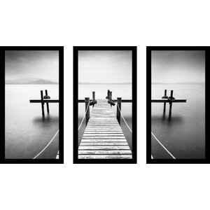 Coastal Craze 3 Piece Framed Photographic Print Set by Picture Perfect International