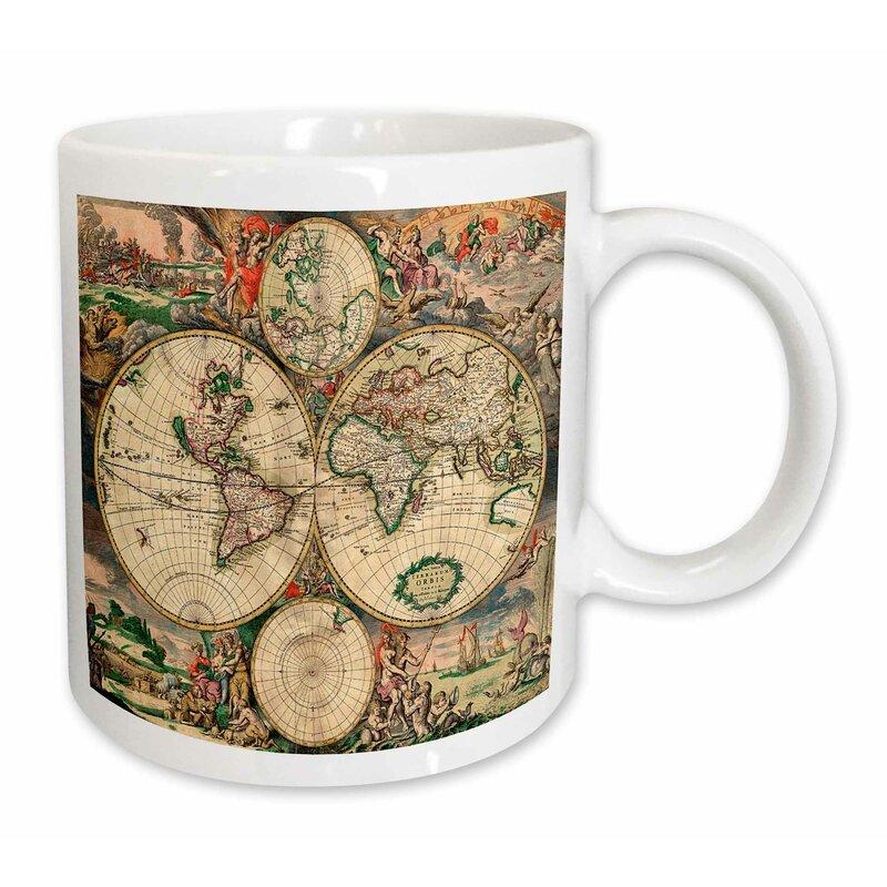 East Urban Home World Map Coffee Mug Wayfair