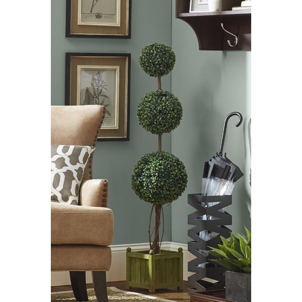 Boxwood Ball Topiary in Planter by Laurel Foundry Modern Farmhouse