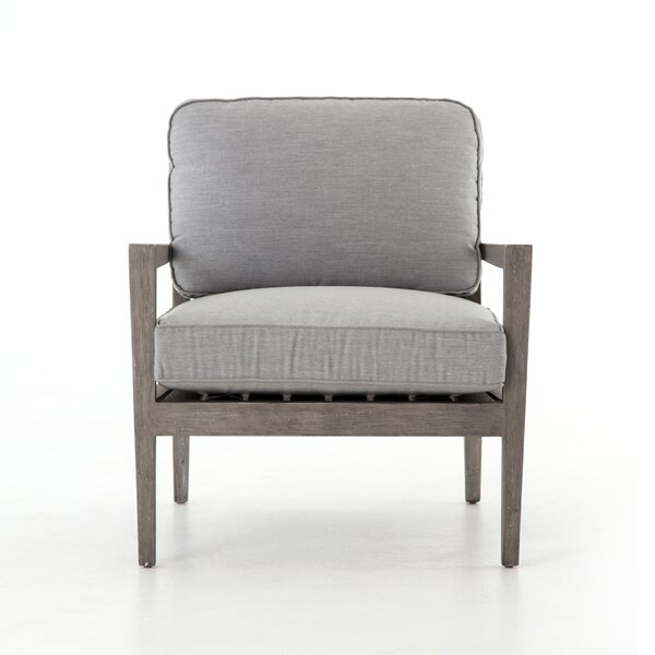 Atrakchi Teak Patio Chair with Cushions by Foundry Select
