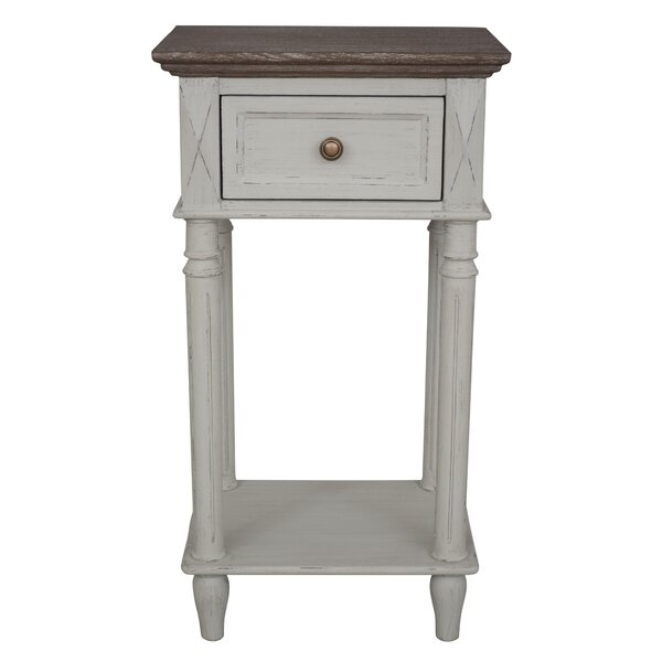Iker Ashbury 2-Tier End Table with Storage by August Grove