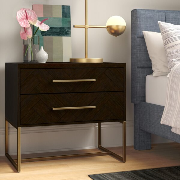 William 2 Drawer Nightstand by Foundstone