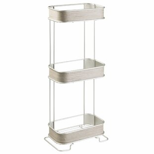 "Realwood 3 Tier 6.4"" W x 25.6"" H Bathroom Shelf"