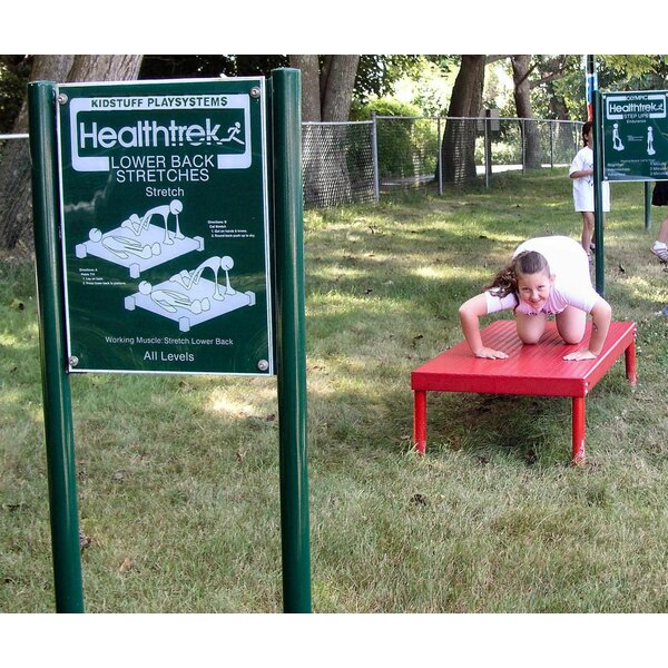 Lower Back Stretch Bench and Sign by Kidstuff Playsystems, Inc.