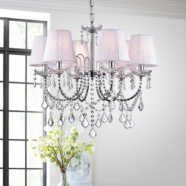 Annette 6-Light Shaded Chandelier by House of Hampton