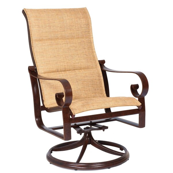 Belden High Back Rocker Swivel Patio Dining Chair by Woodard