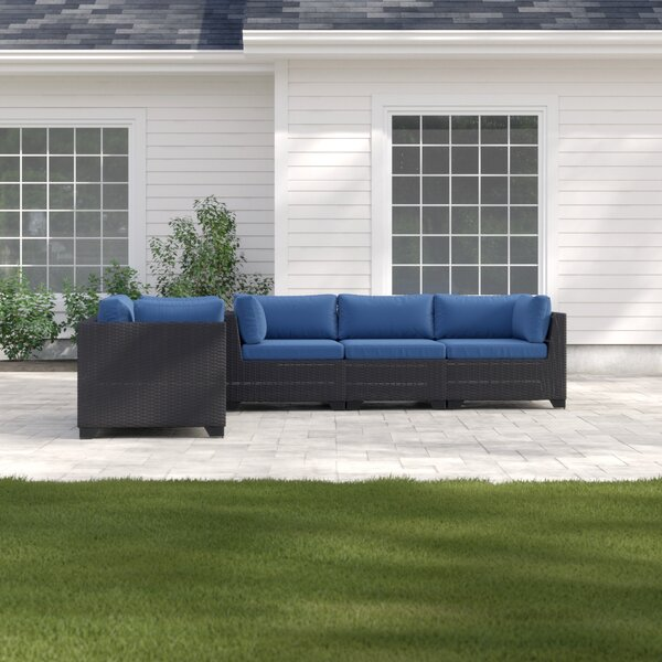 Fernando Outdoor 5 Piece Sofa Seating Group with Cushions by Sol 72 Outdoor