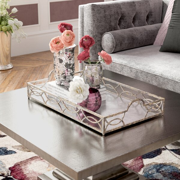 Yeadon Country Metal Mirror Tray by House of Hampton