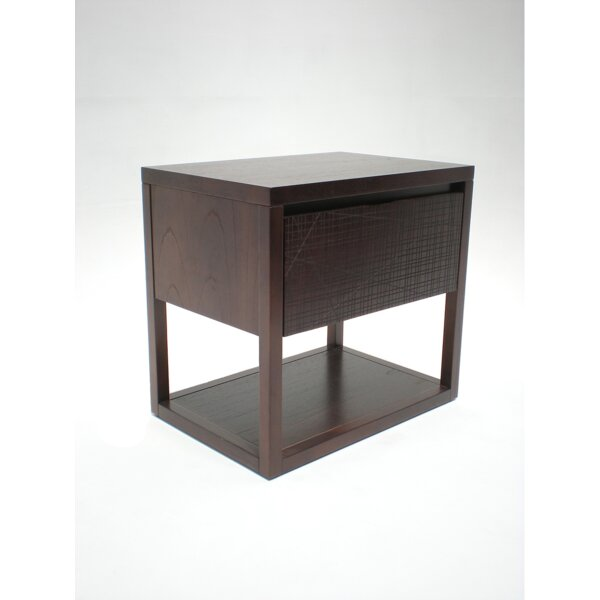 Benoa Nightstand with Atlas Drawer by Indo Puri