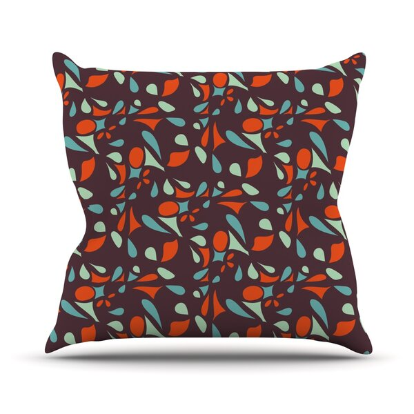 Retro Tile by Miranda Mol Outdoor Throw Pillow by East Urban Home