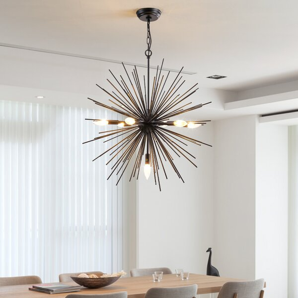 Pettisville 7 - Light Sputnik Sphere Chandelier by Wrought Studio Wrought Studio