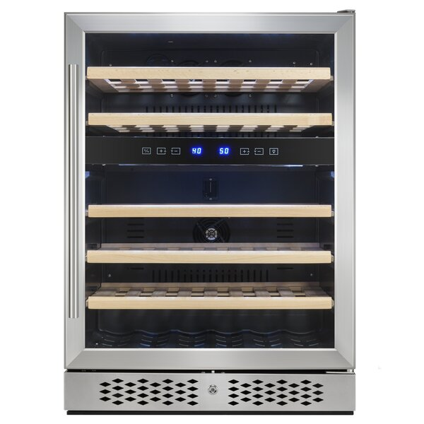 46 Bottle Dual Zone Built-In Wine Cooler by AKDY