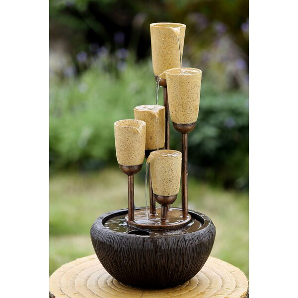 Resin/Fiberglass Cups Water Fountain by Jeco Inc.