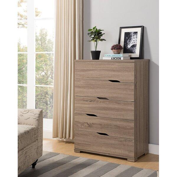 Briaroaks Modern 5 Drawer Dresser by Ebern Designs