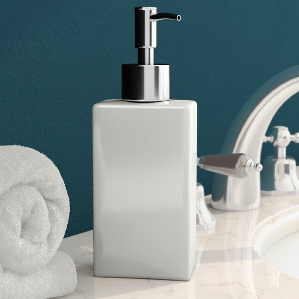Kayson Ceramic Square Soap Dispenser by Wade Logan