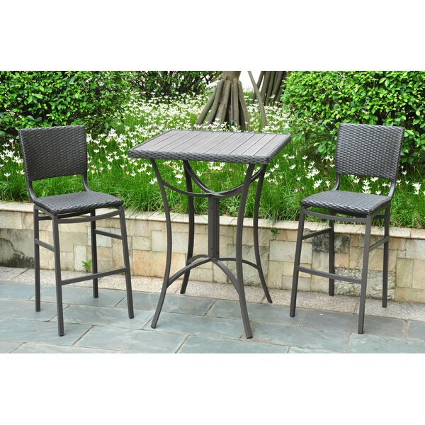 Katzer 3 Piece Bar Height Dining Set by Brayden St
