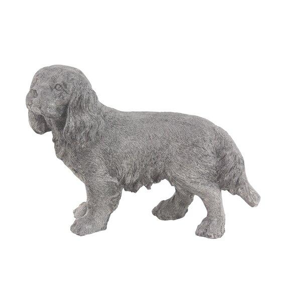 Falmer Traditional Walking Dog Resin Figurine by Charlton Home