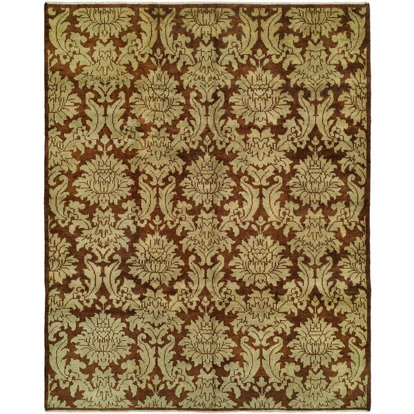 Chand Hand-Knotted Brown Area Rug By Meridian Rugmakers.