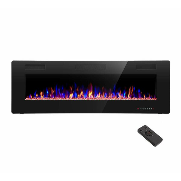 Hixson Recessed Wall Mounted Electric Fireplace By Ebern Designs