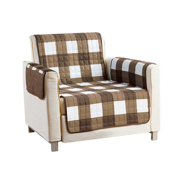 Checkerboard Reversible Waterproof Microfiber T-cushion Armchair Slipcover By Red Barrel Studio Red Barrel Studio