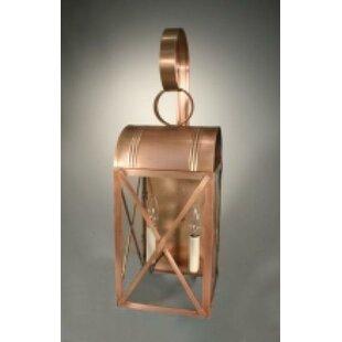 Shop For Adams 2-Light Outdoor Wall Lantern By Northeast Lantern