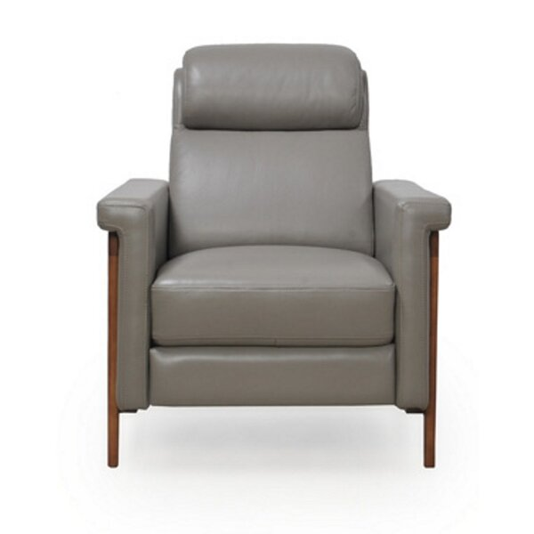 Whelchel Power Italian Leather Recliner by Brayden Studio
