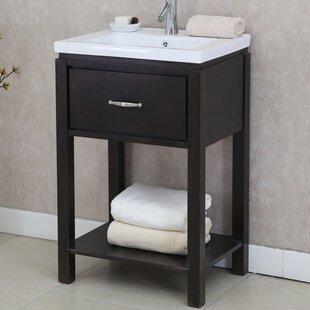 24 Single Bathroom Vanity Set with Open Shelf ByInFurniture