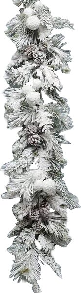 Arctic Snowball Pine Garland by The Holiday Aisle