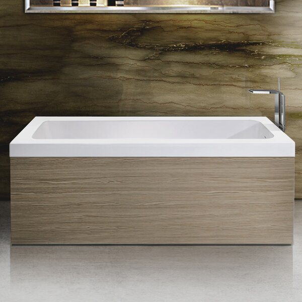 Pure 67 x 31.5 Freestanding Soaking Bathtub by Aquatica